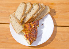 Ecological bred and cheese slice Stock Images