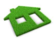 Ecological building. Concept. 3d rendering vector illustration