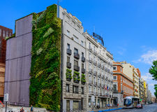 Ecological building. Covered with plants on it, Madrid, Spain Royalty Free Stock Photo