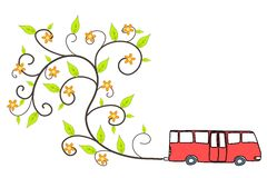 Ecological bus Royalty Free Stock Photo