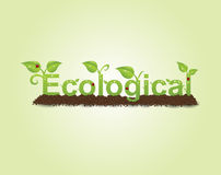 Ecological caption Stock Images