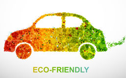 Ecological car. Ecological green car, full scalable graphic stock illustration