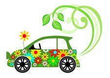 Ecological car Royalty Free Stock Image