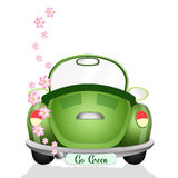 Ecological car with flowers Stock Photo
