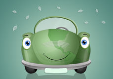 Ecological car for respect the planet Stock Photography