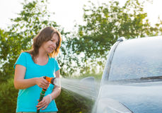 Ecological car wash Stock Images