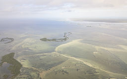 Ecological catastrophe the dam in the Atlantic Ocean. Stock Photography