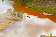 Ecological catastrophy in mud sand quarry Stock Image