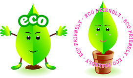 Ecological Character. No background illustration of ecological character Stock Image