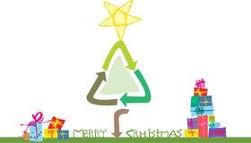 Ecological christmas card Royalty Free Stock Photos