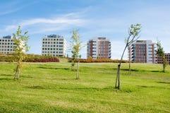 Ecological city. Gardens in Vitoria, ecological city Stock Photos