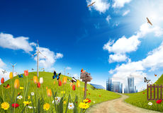 Ecological City Stock Photography