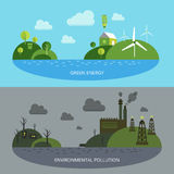 Ecological Climate Banners Stock Photography