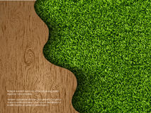 Ecological concept of grass with wood Stock Photography