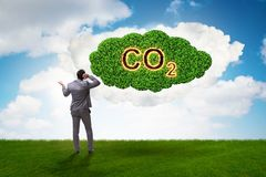 The ecological concept of greenhouse gas emissions. Ecological concept of greenhouse gas emissions stock photos