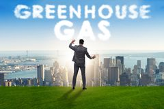The ecological concept of greenhouse gas emissions. Ecological concept of greenhouse gas emissions royalty free stock photo