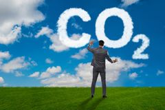 The ecological concept of greenhouse gas emissions. Ecological concept of greenhouse gas emissions royalty free stock photos