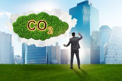 The ecological concept of greenhouse gas emissions. Ecological concept of greenhouse gas emissions stock image
