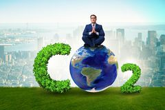 The ecological concept of greenhouse gas emissions. Ecological concept of greenhouse gas emissions stock images