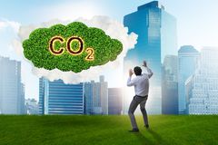 The ecological concept of greenhouse gas emissions. Ecological concept of greenhouse gas emissions royalty free stock images