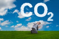 The ecological concept of greenhouse gas emissions. Ecological concept of greenhouse gas emissions royalty free stock image