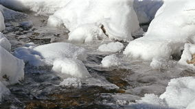 Ecological Concept Ice Winter River stock footage