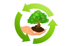 Ecological concept symbol Royalty Free Stock Photo