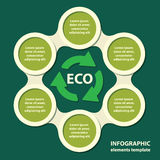 Ecological concept. template for presentation. Ecological concept. recycling ecological, environmental protection infographics in green colors. vector vector illustration