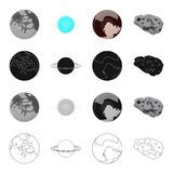 Ecological, crisis, constellation and other web icon in cartoon style. Cosmos, bodies, planet icons in set collection. Royalty Free Stock Images