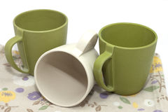 Ecological cups Royalty Free Stock Images