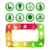Ecological cycle diagram with green icons isolated Royalty Free Stock Photo