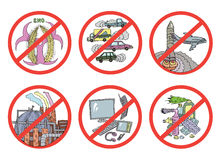 Ecological dangers and risks stock illustration