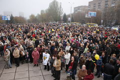 Ecological demonstration in Mariupol, Ukraine Stock Photography
