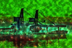 Ecological disaster polluted water Royalty Free Stock Images