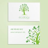 Ecological or eco energy company business card Royalty Free Stock Image