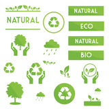 Ecological elements symbols and signs Stock Image