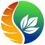 Ecological emblem. Isolated illustrated ecological emblem design Stock Images