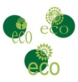 Ecological emblem Stock Images