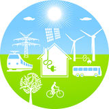 Ecological energy Stock Images