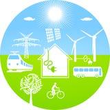 Ecological energy royalty free illustration