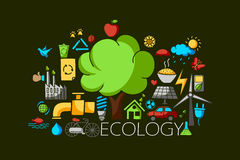 Ecological  and environment concept for web design template Royalty Free Stock Photography