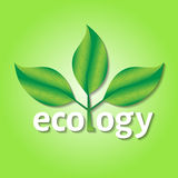 Ecological or environmental concept or logo. Royalty Free Stock Images