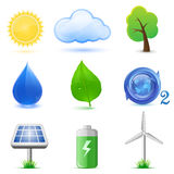 Ecological and environmental icons Royalty Free Stock Images