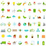 Ecological and Environmental icons Stock Images