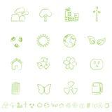Ecological and Environmental Symbols. Icon set Stock Photos