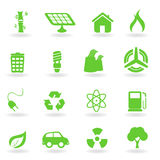 Ecological and environmental symbols Royalty Free Stock Image