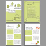 Ecological flyer, template or banner design with place holders for your image. And content Royalty Free Stock Photo