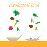 Ecological food from natural products Stock Images