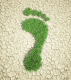 Ecological footprint concept Stock Images