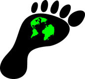 Ecological footprint of mankind on the planet Stock Photography
